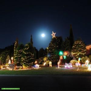 Christmas Light display at 3 Lilac Court, Frankston South