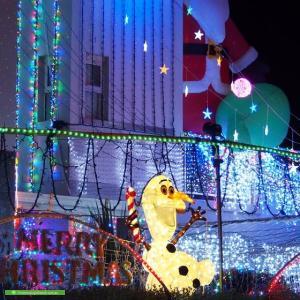 Christmas Light display at 315 Gundaroo Drive, Gungahlin