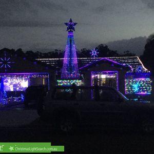 Christmas Light display at 16 Dabchick Drive, Burleigh Waters