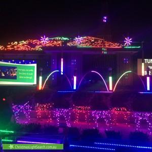 Christmas Light display at 32 Elia Ware Crescent, Bonner