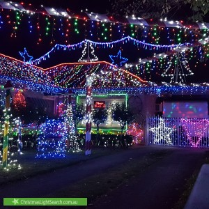 Christmas Light display at 3 Sabre Street, Netley