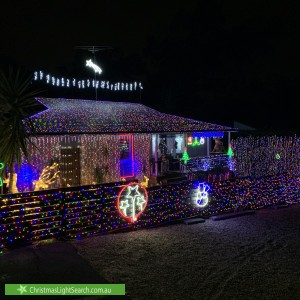 Christmas Light display at 39 Hillside Crescent, Glenbrook
