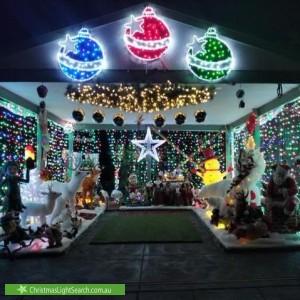 Christmas Light display at 858 Mount Dandenong Road, Montrose