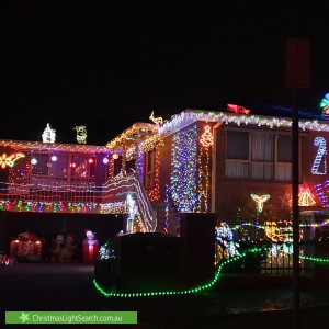 Christmas Light display at 130 Andersons Creek Road, Doncaster East