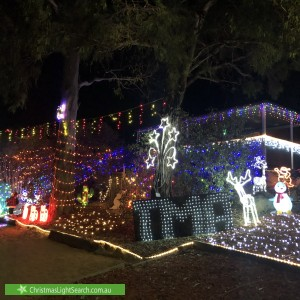 Christmas Light display at 4 Stacy Street, Gowrie