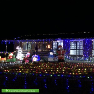 Christmas Light display at 16 Stacy Street, Gowrie