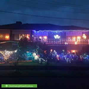 Christmas Light display at 1 Salem Court, Vermont South
