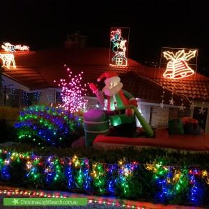 Christmas Light display at 40 Clem Hill Street, Gordon
