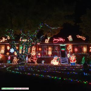 Christmas Light display at Aintree Street, Mooroolbark