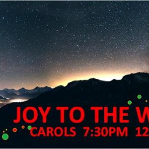 Joy to the World - Carols 2020