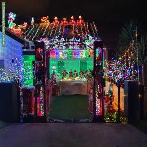 Christmas Light display at 7 South Street, Tempe