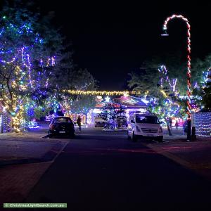 Christmas Light display at  Burraly Court, Ngunnawal