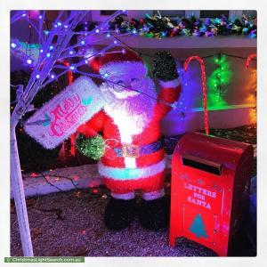 Christmas Light display at 13 Tennyson Avenue, Preston