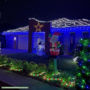 Christmas Light display at 25 Ansett Street, Gungahlin