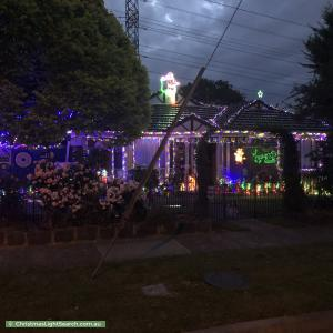 Christmas Light display at 52 Cappella Court, Glen Waverley