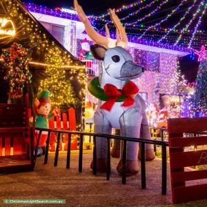 Christmas Light display at 36 Mahogany Street, Raceview