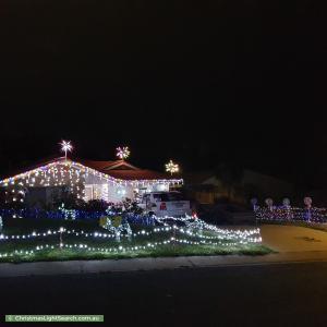 Christmas Light display at 12 Ammon Place, Kambah