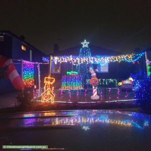 Christmas Light display at 28 Kingsway, Kingsgrove