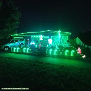 Christmas Light display at 29 Birchgrove Way, Taylors Hill