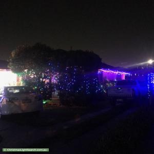 Christmas Light display at 176 Brandon Park Drive, Wheelers Hill