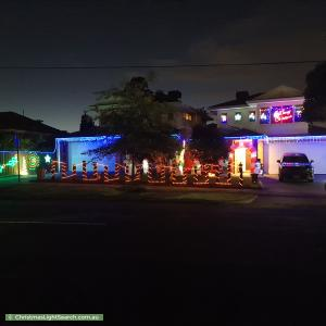 Christmas Light display at  Doncaster East Road, Mitcham