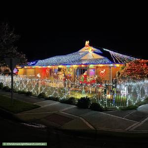 Christmas Light display at 36 Maple Avenue, Royal Park