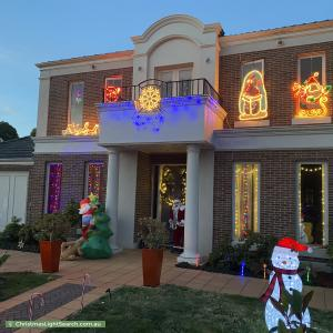 Christmas Light display at 11 Woodhouse Road, Doncaster East