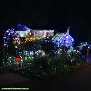 Christmas Light display at 2 Meadow Close, Beecroft