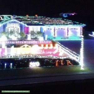 Christmas Light display at 27 Burke Parade, Hewett