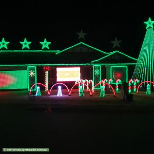 Christmas Light display at Baroda Avenue, Netley