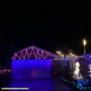 Christmas Light display at 10 Millicer Place, Dunlop