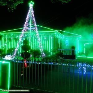 Christmas Light display at 108 Gillespie Road, Kings Park