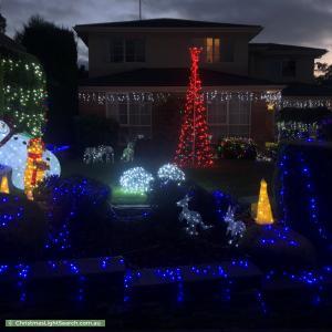 Christmas Light display at Paltarra Court, Doncaster East