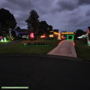 Christmas Light display at  Poplar Court, Castle Hill