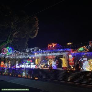 Christmas Light display at 50 Kincumber Drive, Croydon