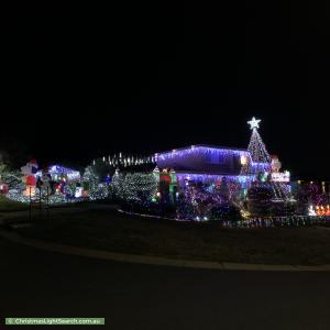 Christmas Light display at 36 Ballarat Street, Fisher