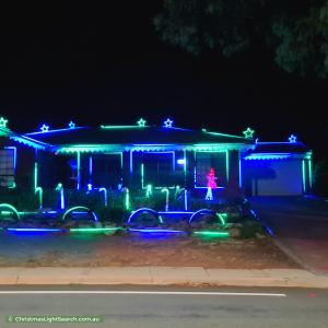 Christmas Light display at 225 Newman-Morris Circuit, Oxley