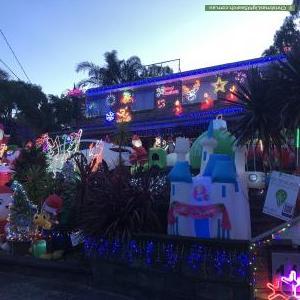 Christmas Light display at 11 Rawdon Court, Boronia