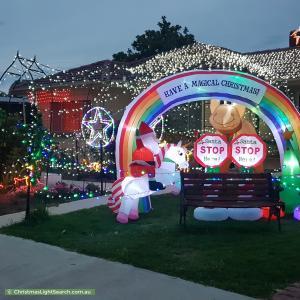 Christmas Light display at  12 Burra Street, Modbury North
