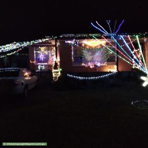 Christmas Light display at 35 Mitchell Street, Seaview Downs
