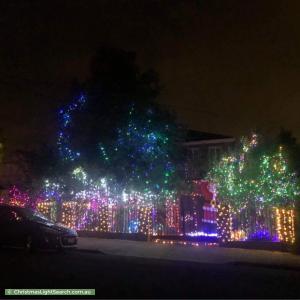 Christmas Light display at 5 Garnet Street, Preston