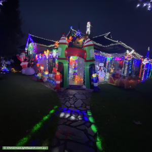Christmas Light display at 74 Rose Terrace, Wayville