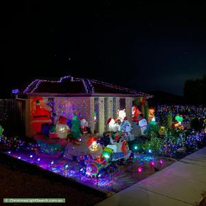 Christmas Light display at 16 Deucem Smith Street, Bonner