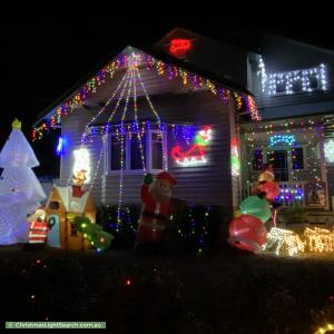 Christmas Light display at  Matlock Street, Preston
