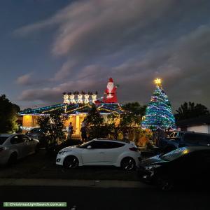 Christmas Light display at 66 Kambalda Crescent, Fisher