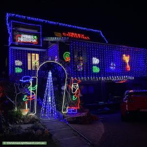 Christmas Light display at  Kanini Close, Cromer