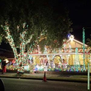 Christmas Light display at 191 Burwood Road, Concord