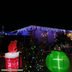 Christmas Light display at 1 Linger Crescent, Elizabeth Downs