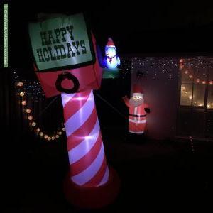 Christmas Light display at 46 Buckingham Street, Sydenham