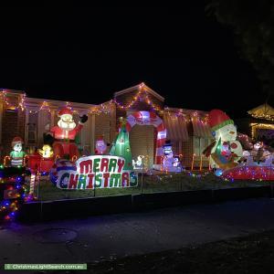 Christmas Light display at 76 Heritage Drive, Skye